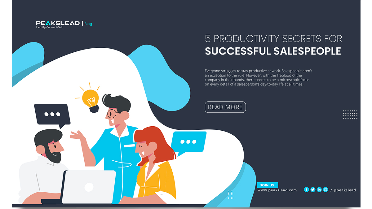 5 Productivity Secrets for Successful Salespeople