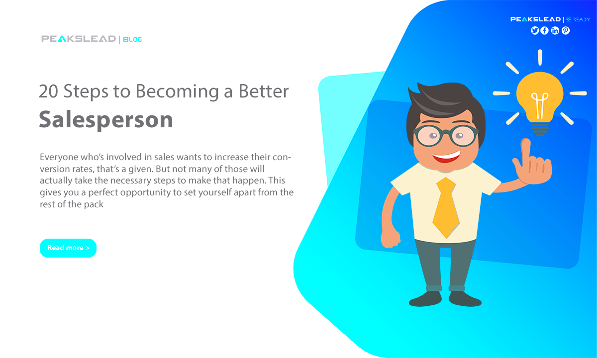 20 Steps to Becoming a Better Salesperson