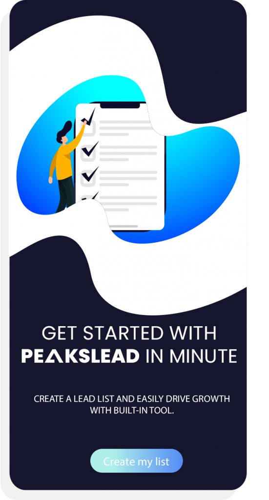 GET STARTED WITH PEAKSLEAD IN MINUTE