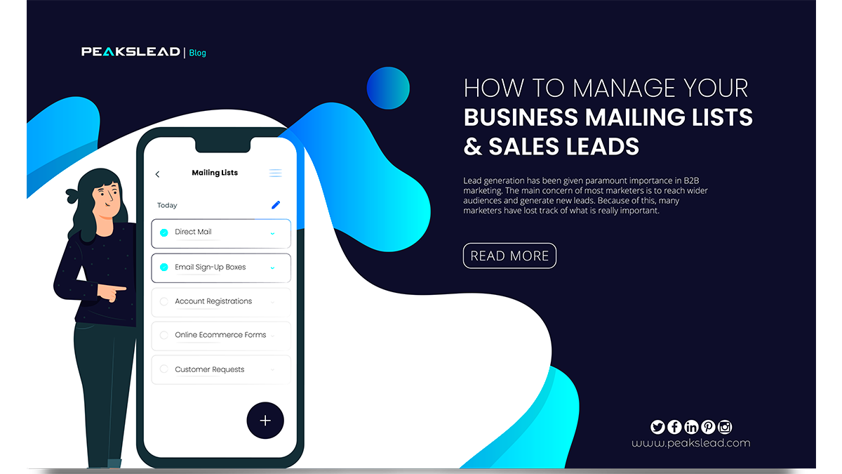 How to Manage Your Business Mailing Lists & Sales Leads
